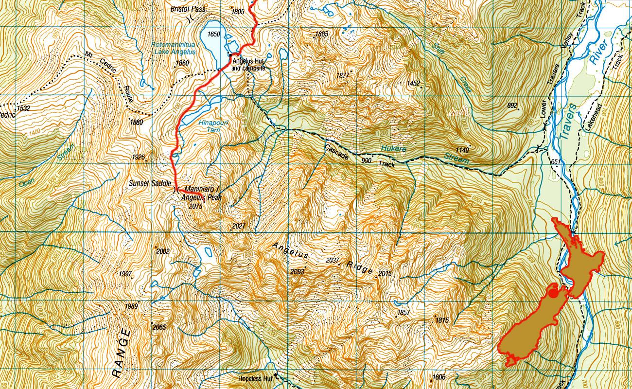Angelus-Peak-route