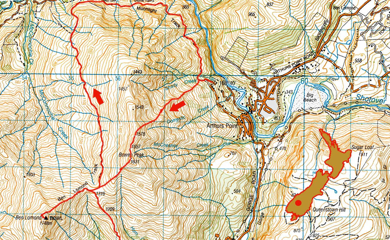Ben-Lomond-routes