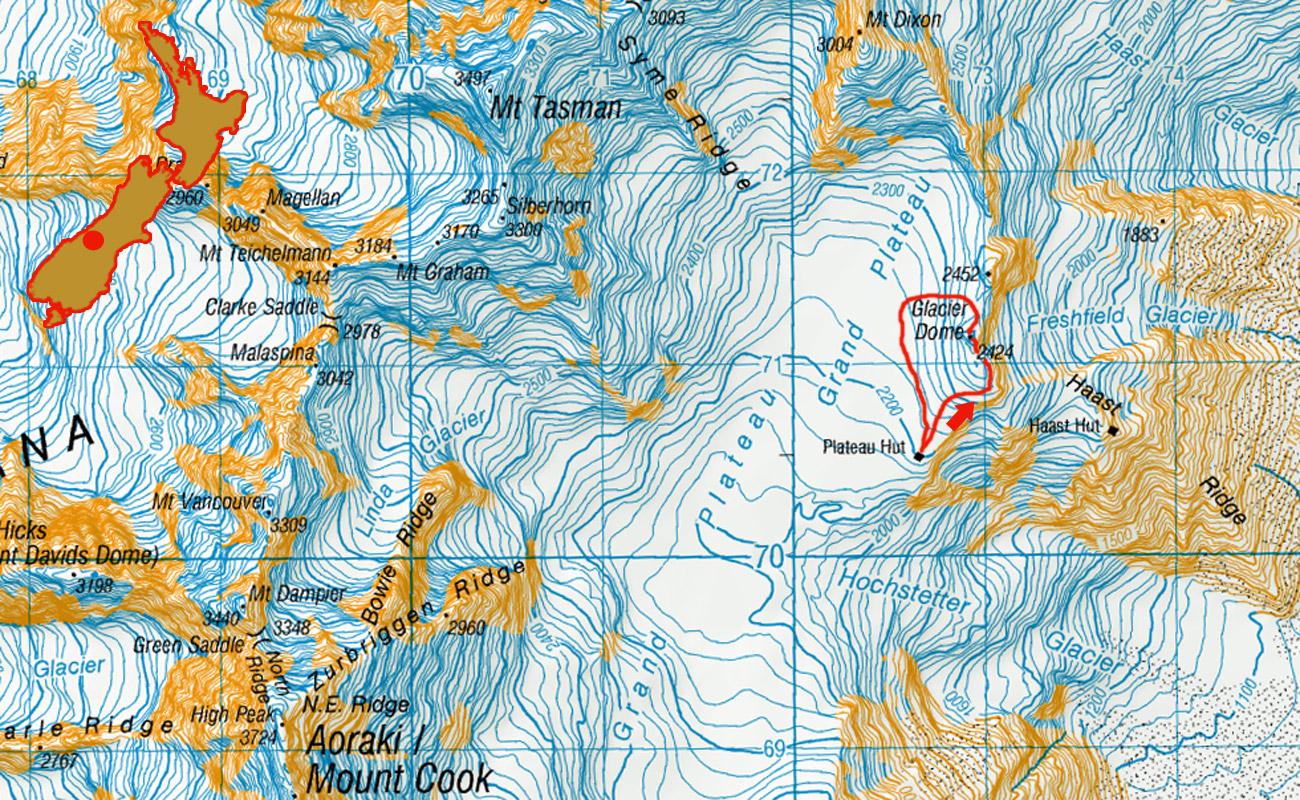 Glacier-Dome-route