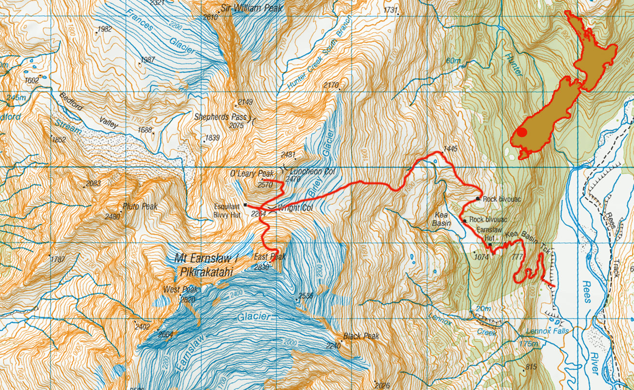 Mt-Earnslaw-route