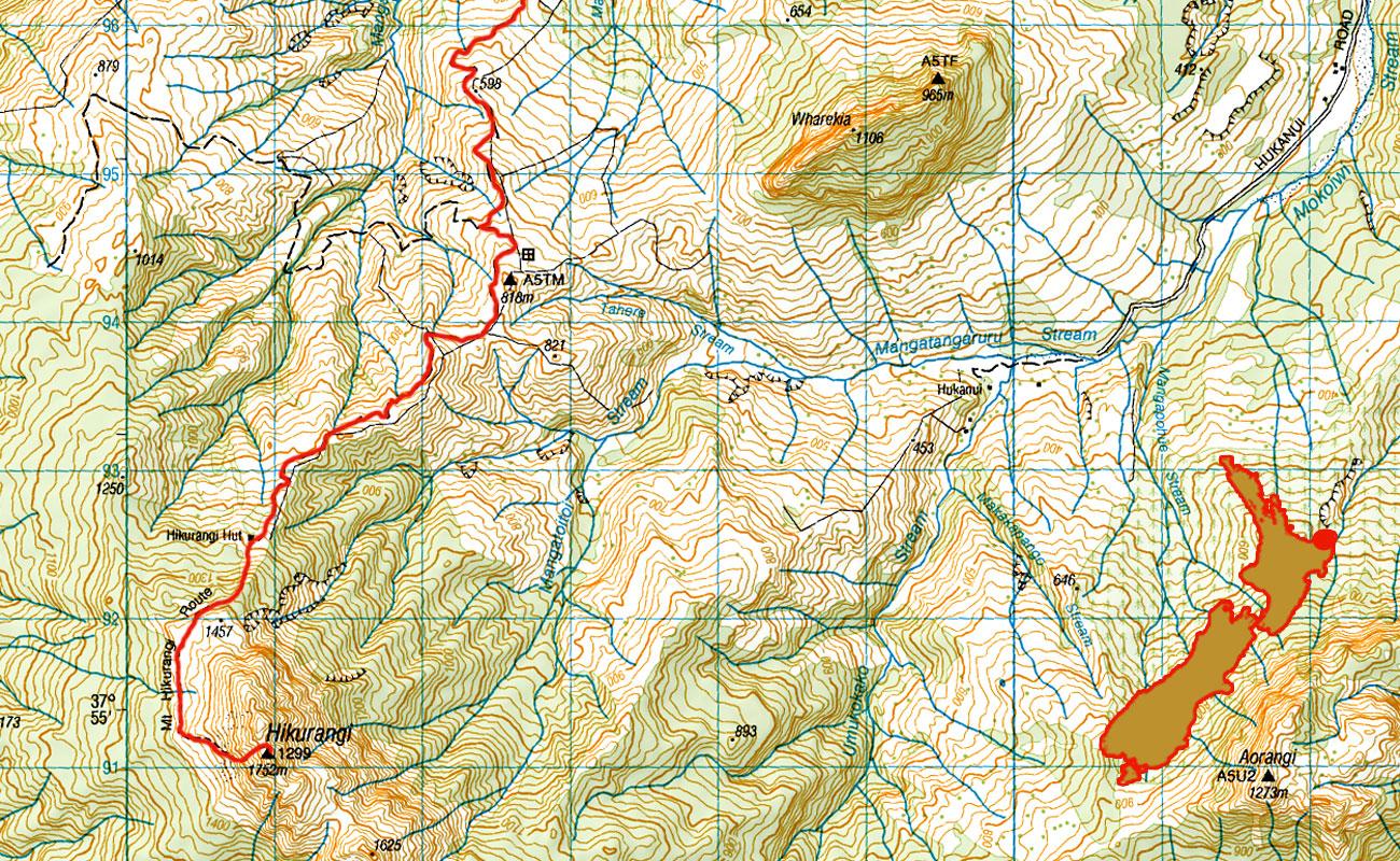 Mt-Hikurangi-route
