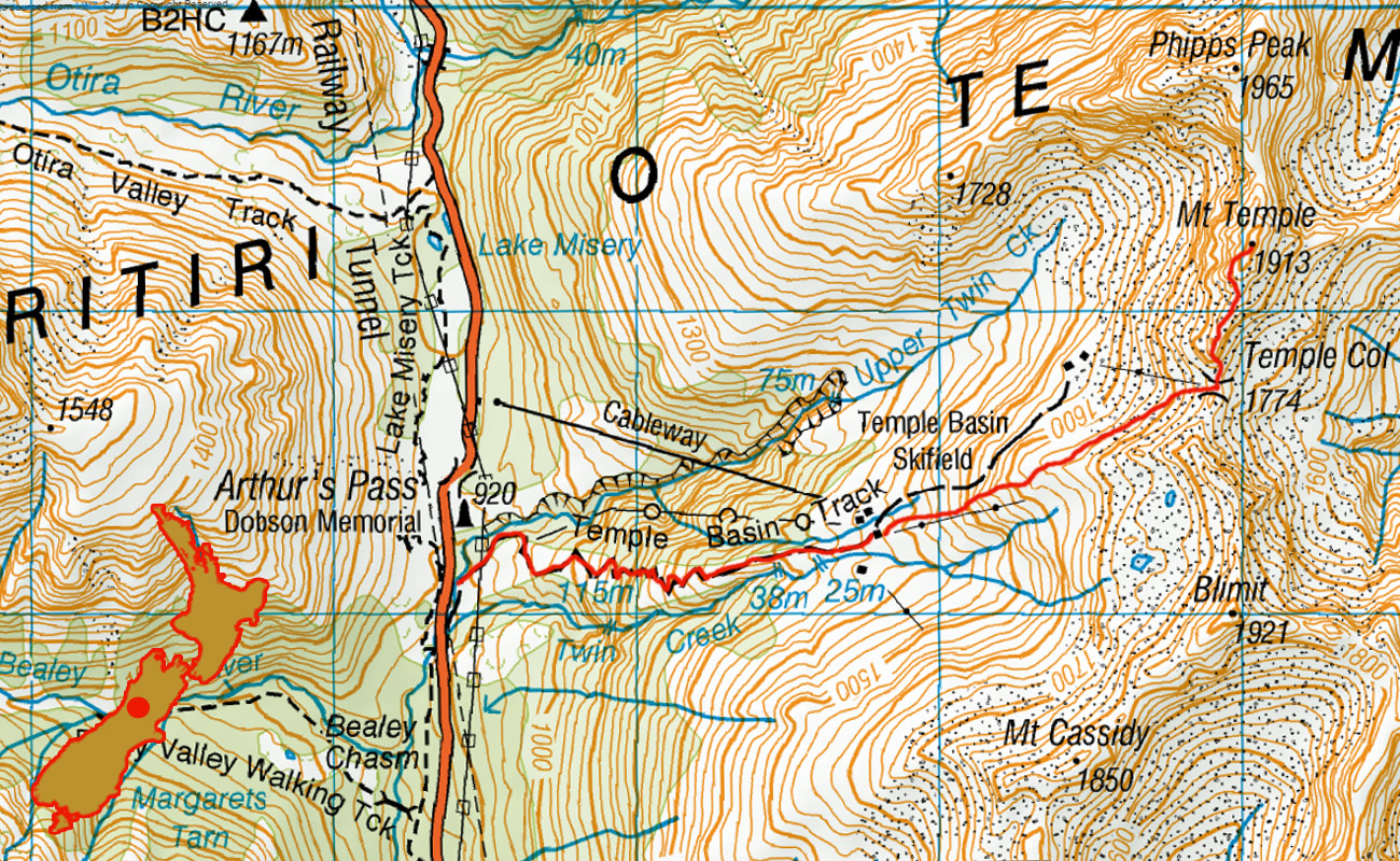 Mt-Temple-route