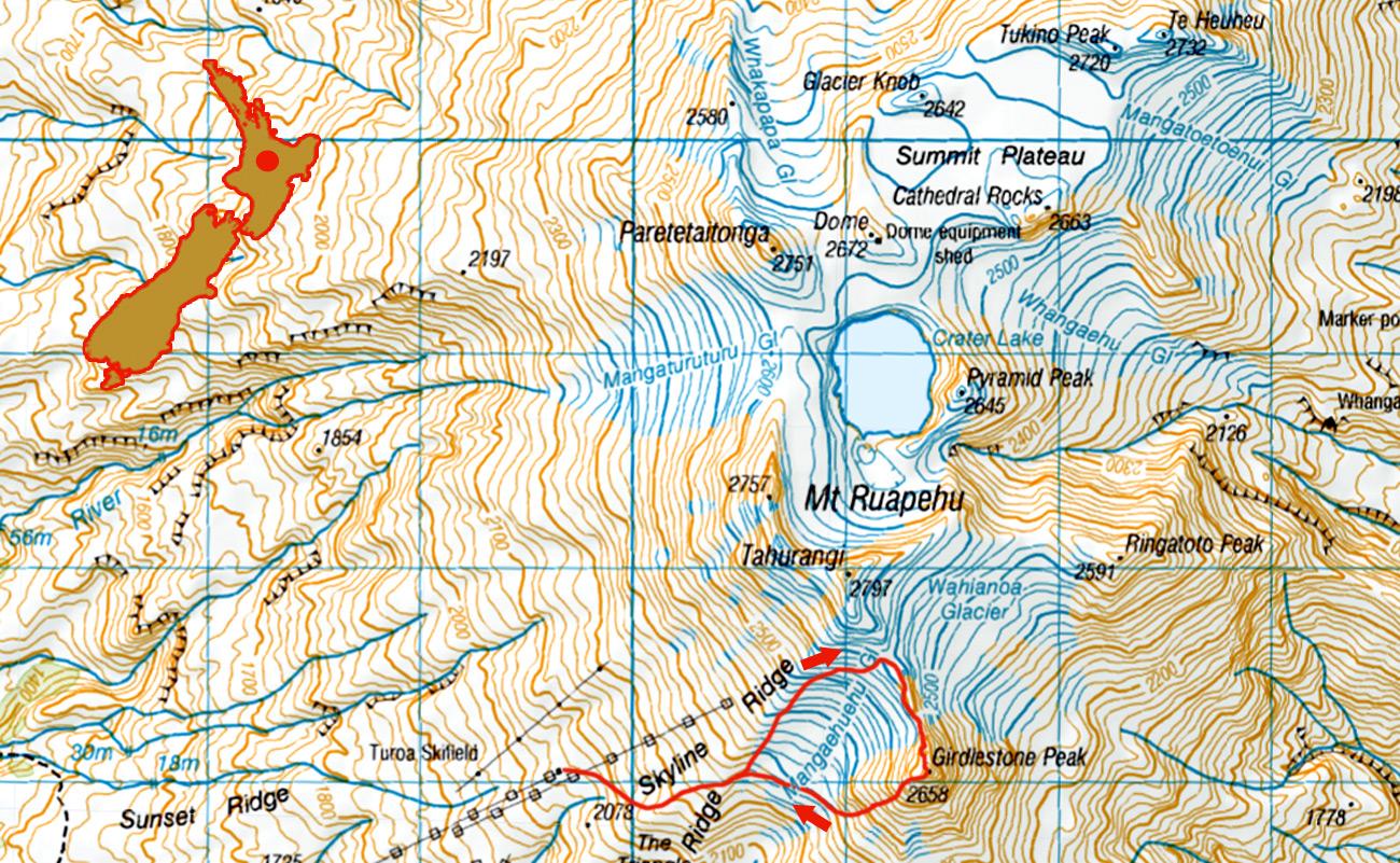 Ruapehu-Girdlestone-solo-1-route