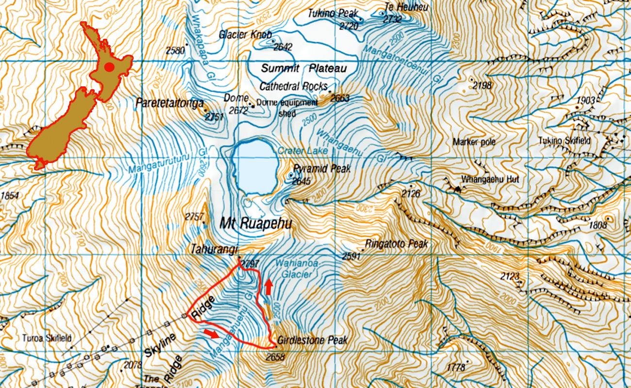 Ruapehu-Girdlestone-solo-2- route