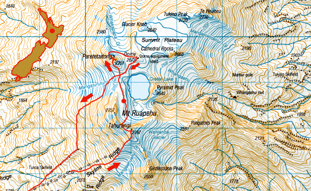 Ruapehu-Plateau-Camp-route
