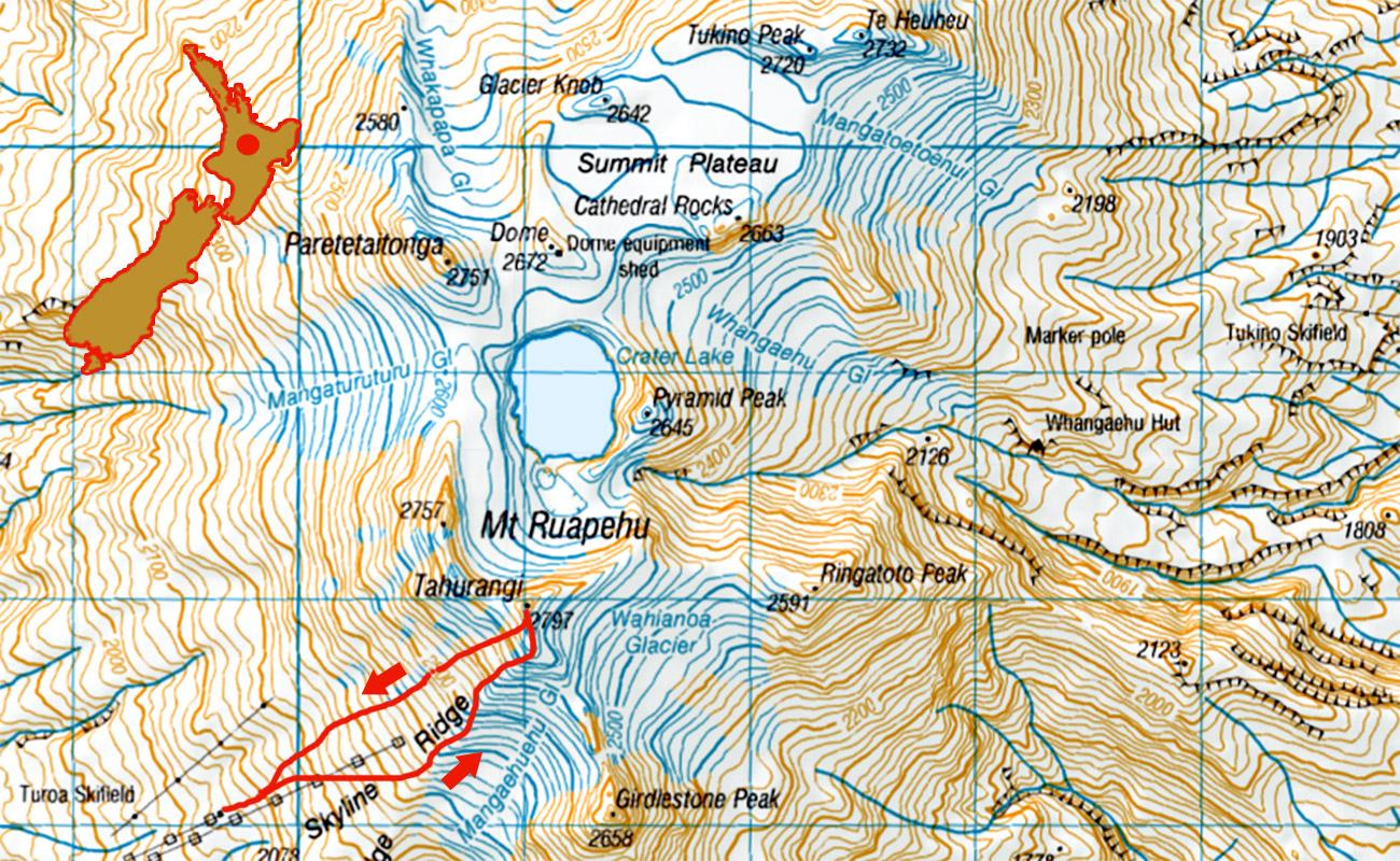 Ruapehu-Tahurangi-route