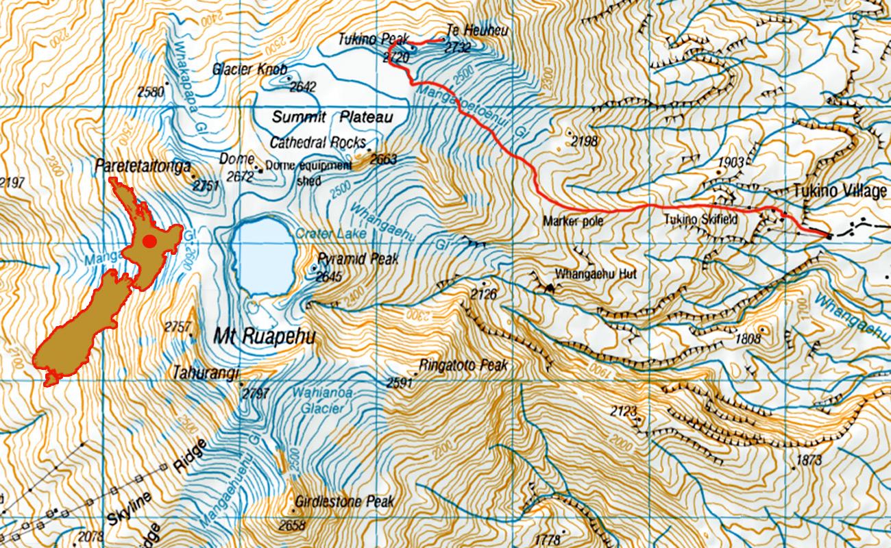 Ruapehu-Tukino-Te-HueHue-route