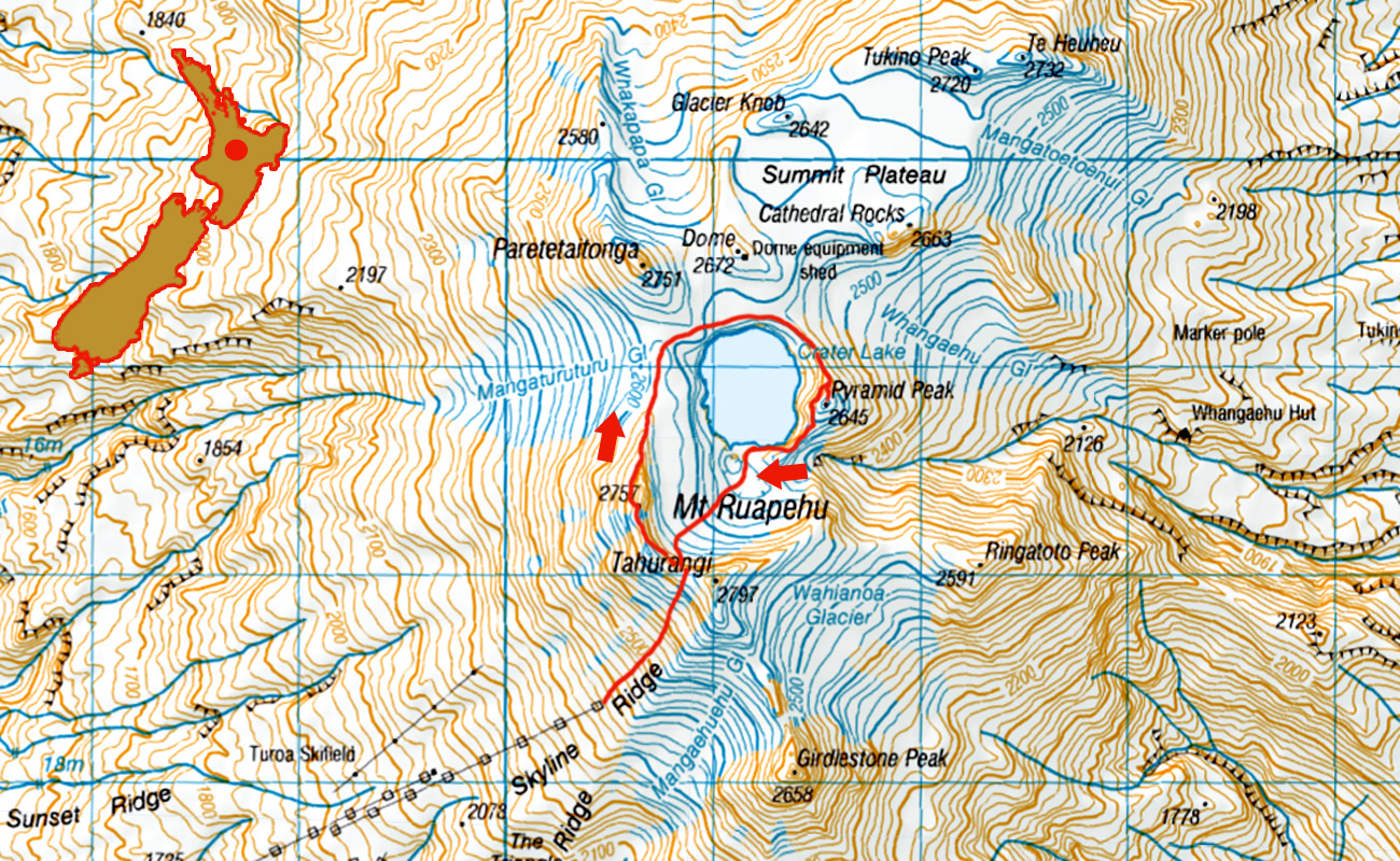Ruapehu-round-the-lake-route