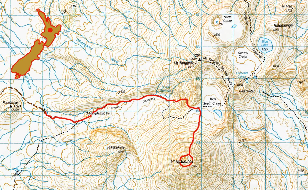 Tongariro-Ngauruhoe-route