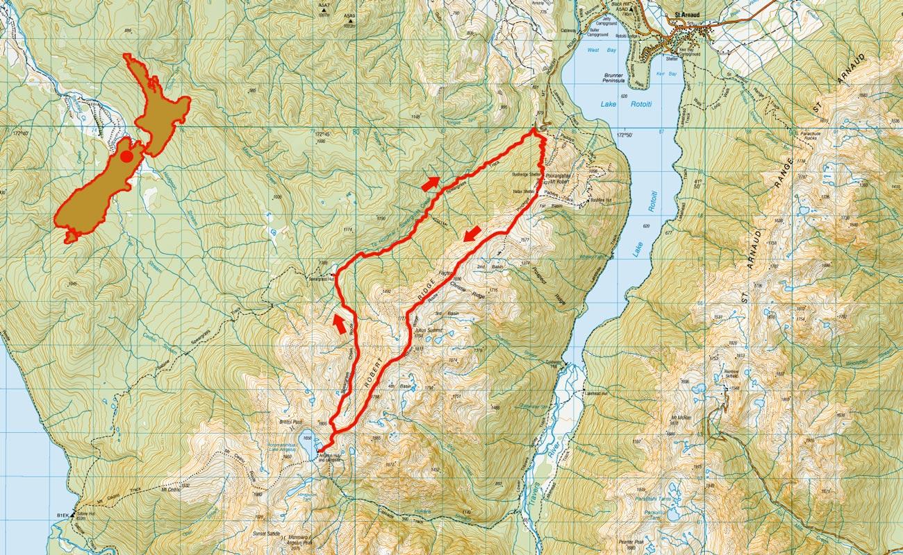 Angelus-Hut-route