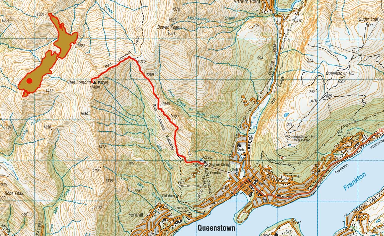 Ben-Lomond-route