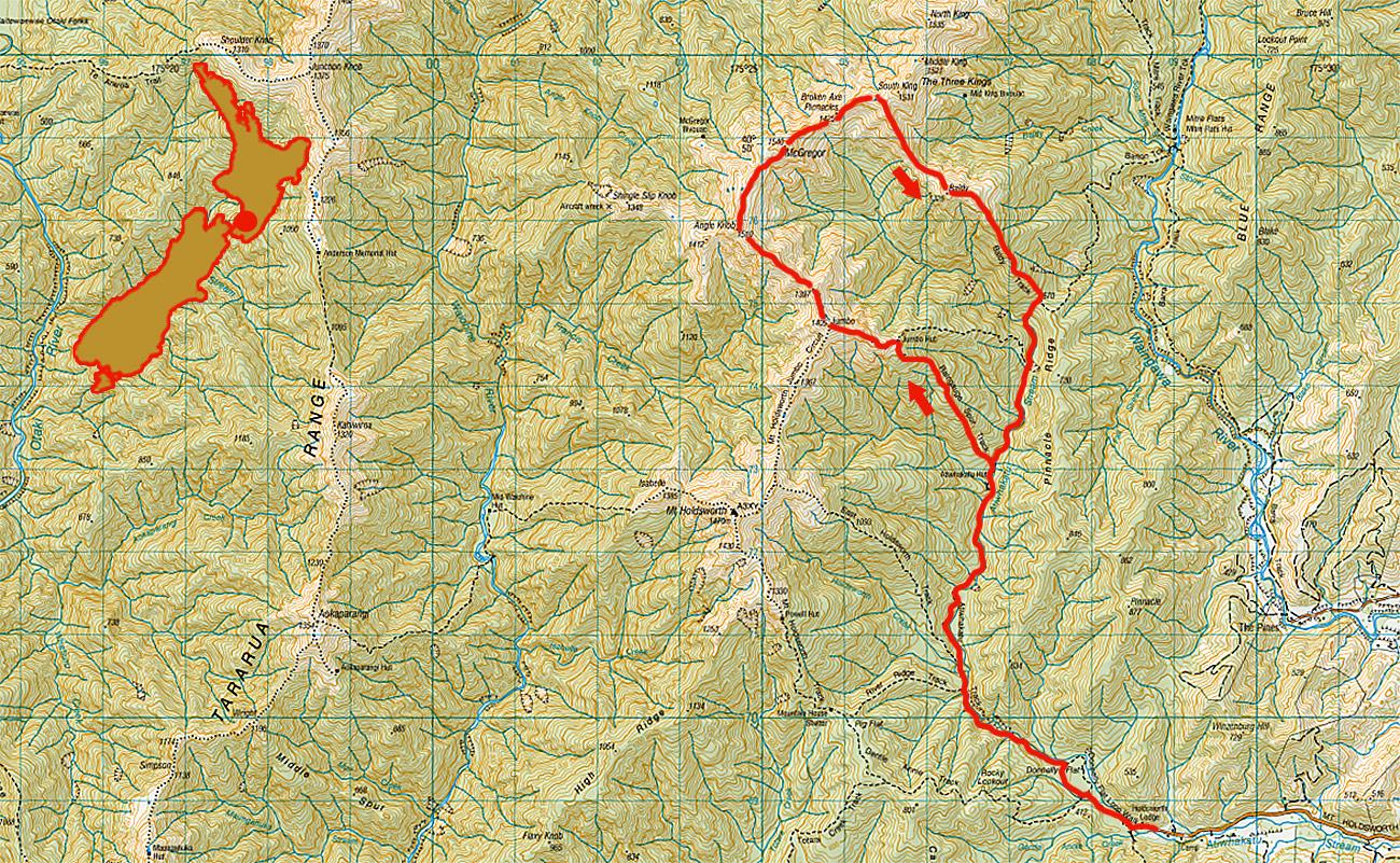 Broken-Axe-Pinnacles-route