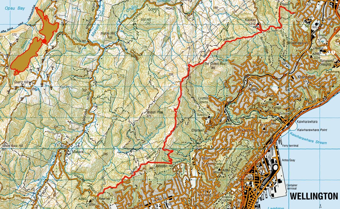 Mt-KauKau-to-Makara-route