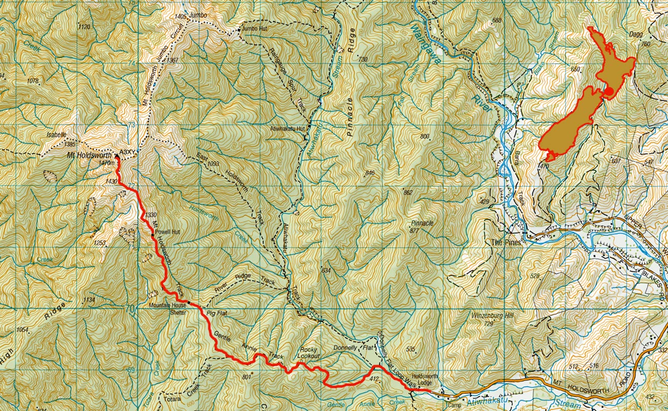 Powell-Hut-route
