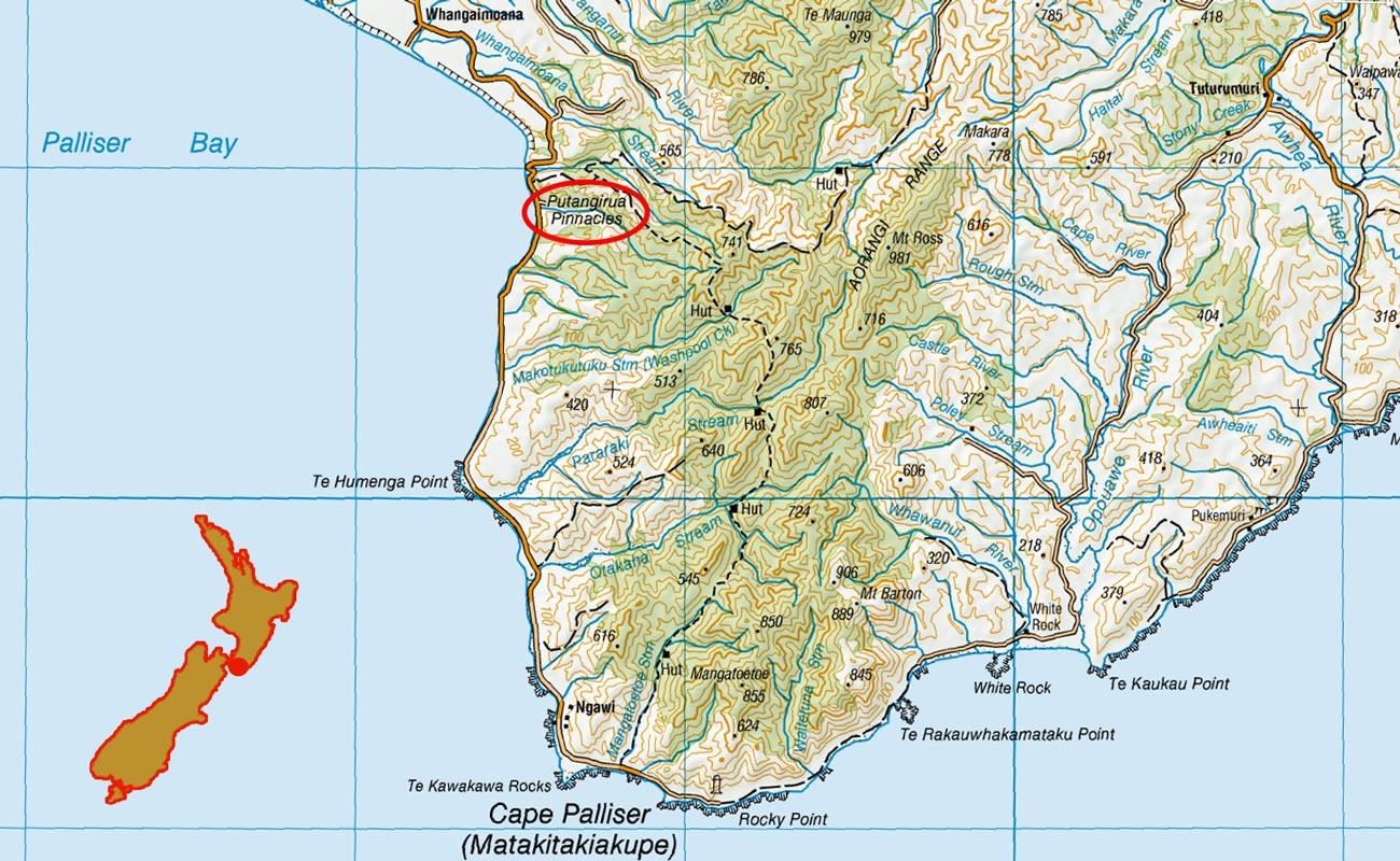 Putangirua-Pinnacles-route