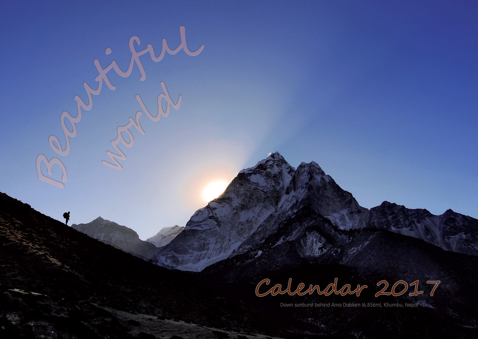Order your unique large format OccasionalClimber.co.nz calendar now
