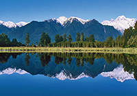 Lake Matheson New Zealand landscape, culture, travel images