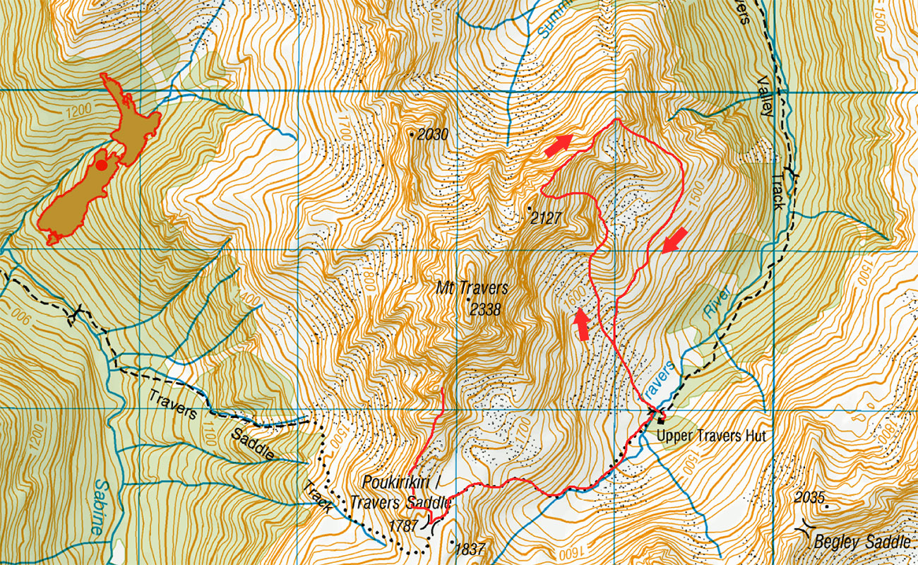Mt Travers New Zealand mountain images and information