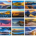 Generously sized beautiful sunrise and sunset image 2018 calendar - occasionalclimber.co.nz