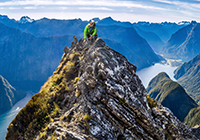 Mitre Peak New Zealand mountain images and information - occasionalclimber.co.nz