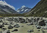 Hooker valley New Zealand mountain images and information